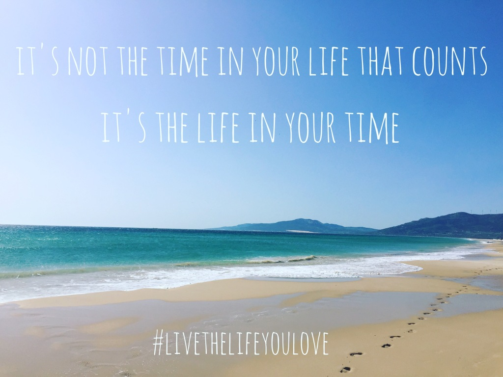 It's not the time in your life that counts, it's the life in your time